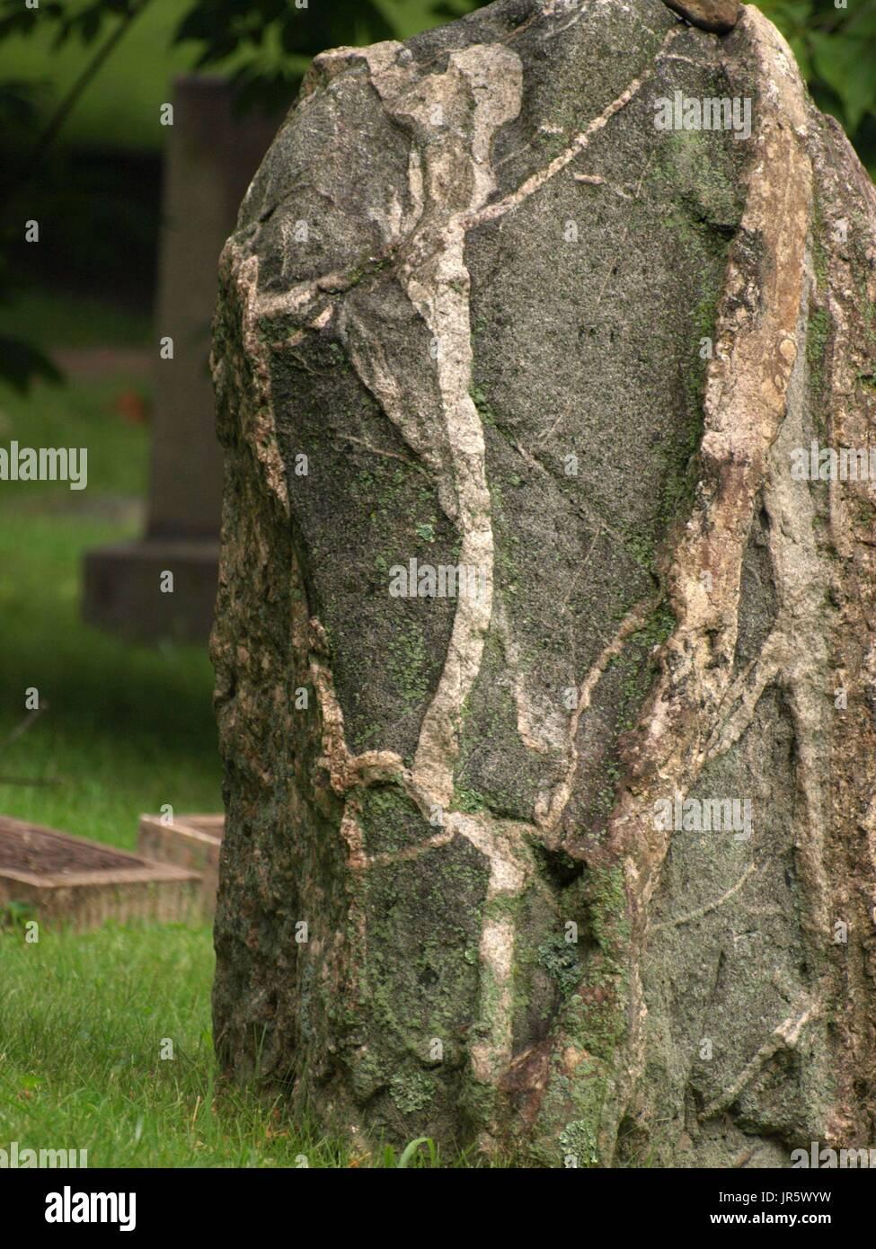 Veteado, grandes rocas de granito Foto de stock