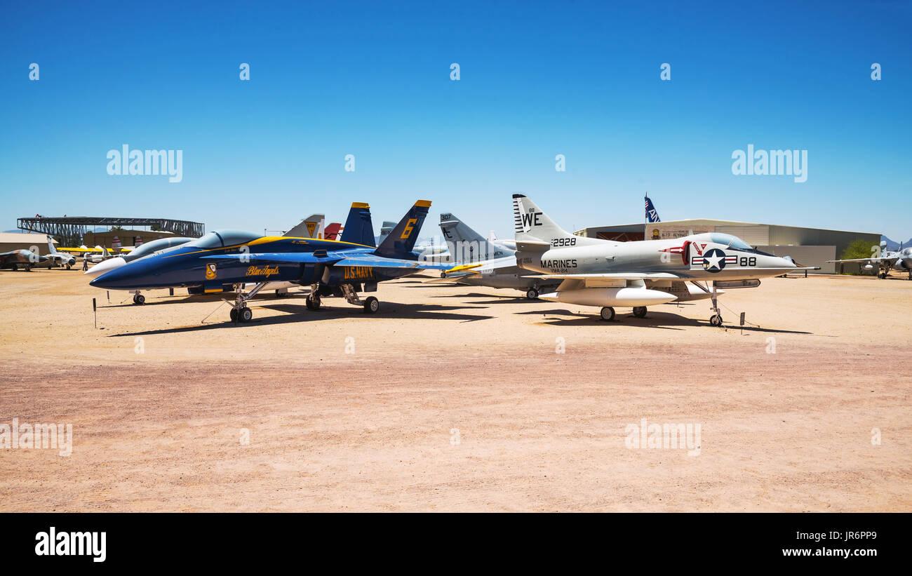 Exposición al aire libre, Pima Air & Space Museum - más grande no financiado por el gobierno de la aviación y el Foto de stock