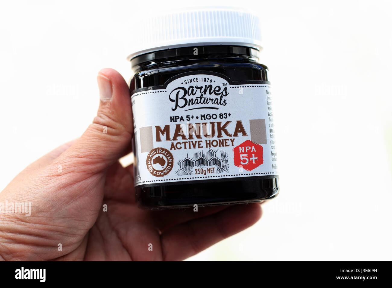 Barnes Naturals Australian Manuka miel Foto de stock
