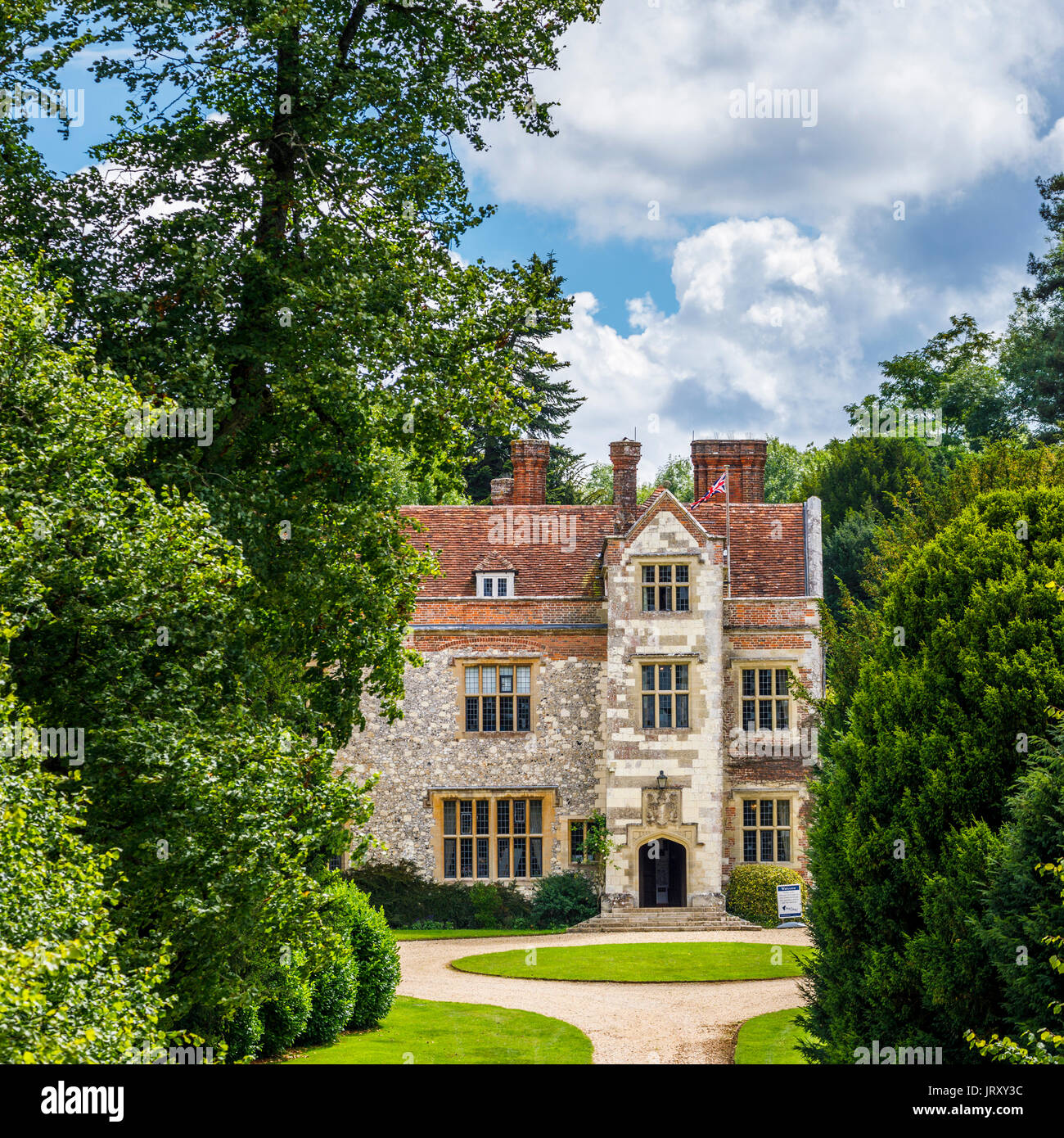 Biblioteca Chawton House, la Casa Grande contemplados por Jane Austen, propiedad de su hermano Edward Knight, Chawton, Hampshire, en el sur de Inglaterra, Reino Unido. Imagen De Stock