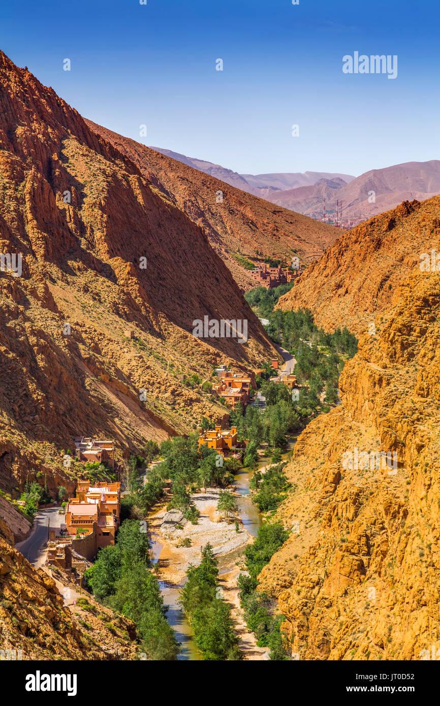 Valle del Dades, Dades Gorges, el Alto Atlas. Marruecos, Magreb, África del Norte Imagen De Stock