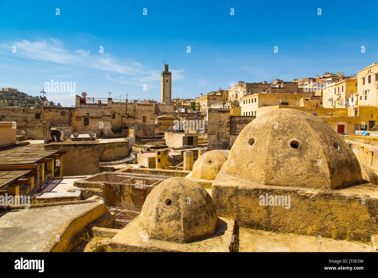 Souk Medina de Fez, Fes el Bali. Marruecos, Magreb, África del Norte Imagen De Stock