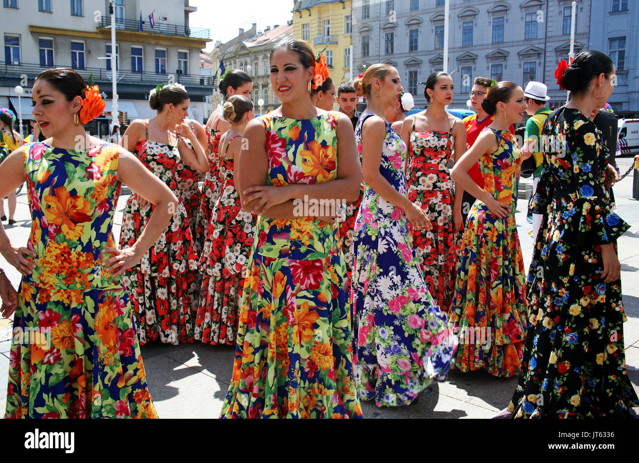 Festival Internacional de Folklore,2017.,Zagreb, Croacia,69 Imagen De Stock