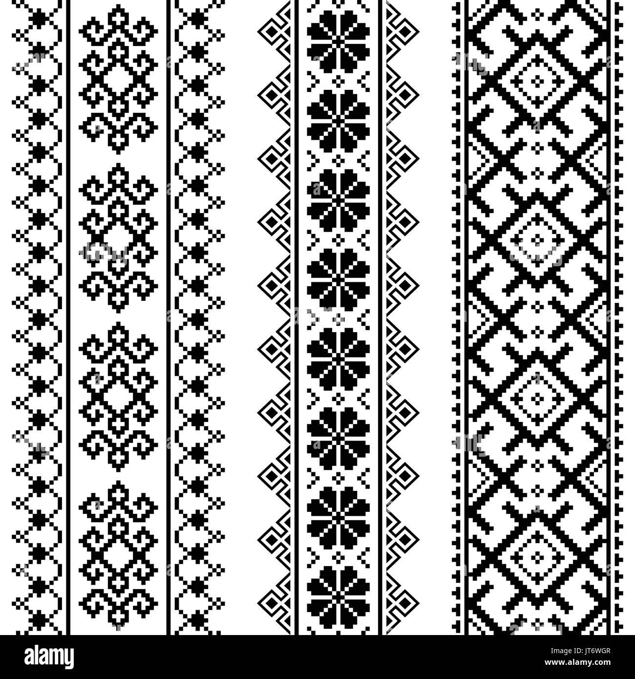 Ucraniano, Bielorruso bordado negro - Vyshyvanka patrón perfecta ...