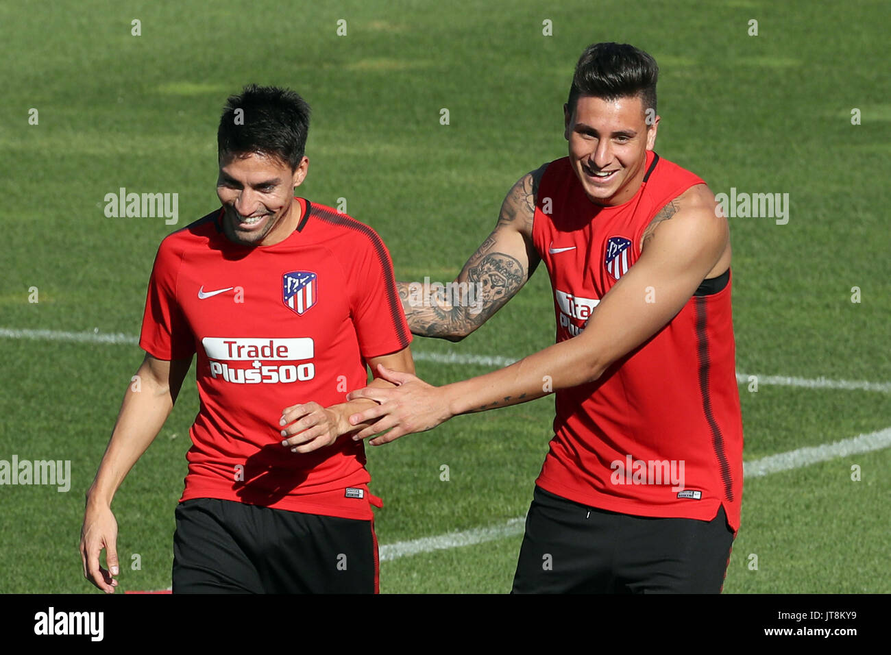 El Atletico De Madrid Jugadores El Argentino Nicolas Gaitan L Y