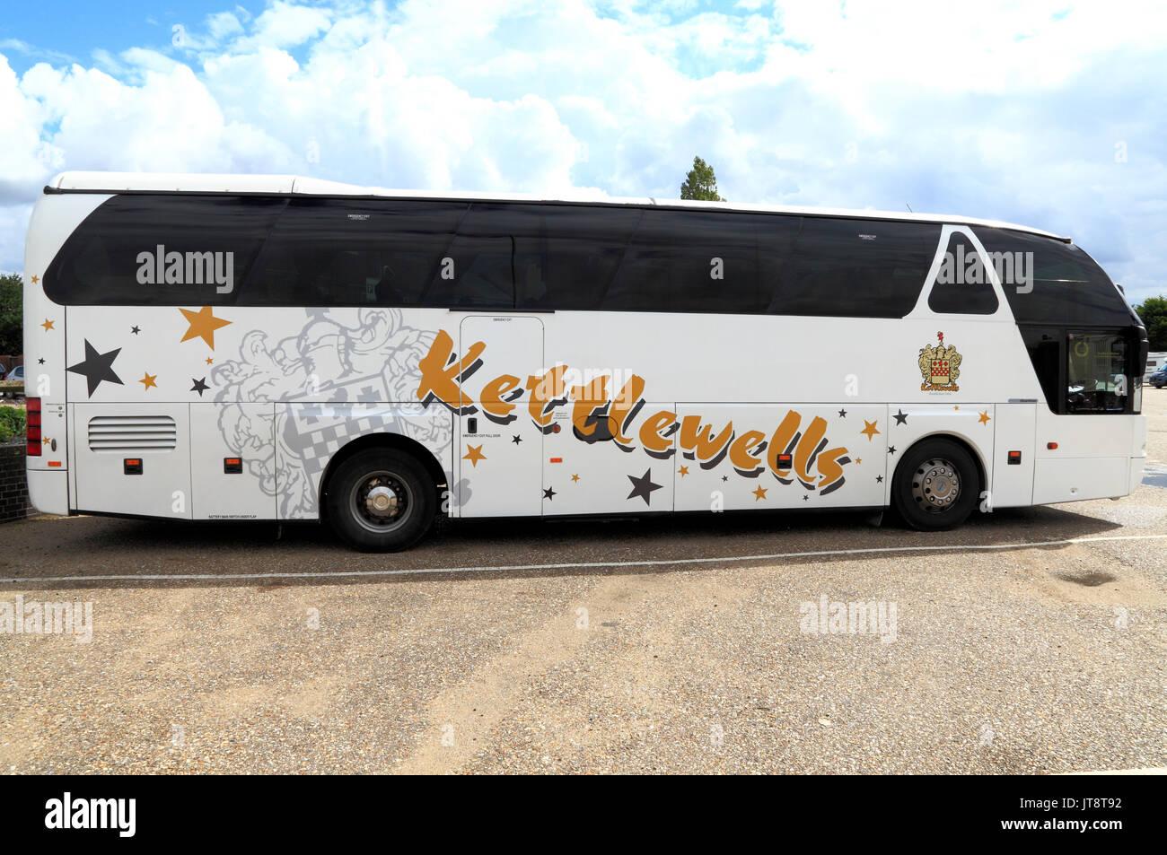Kettlewells coach, entrenadores, viaje, vacaciones, vacaciones, excursiones, transporte, Inglaterra, Reino Unido, el operador, los operadores, la compañía, las empresas Imagen De Stock