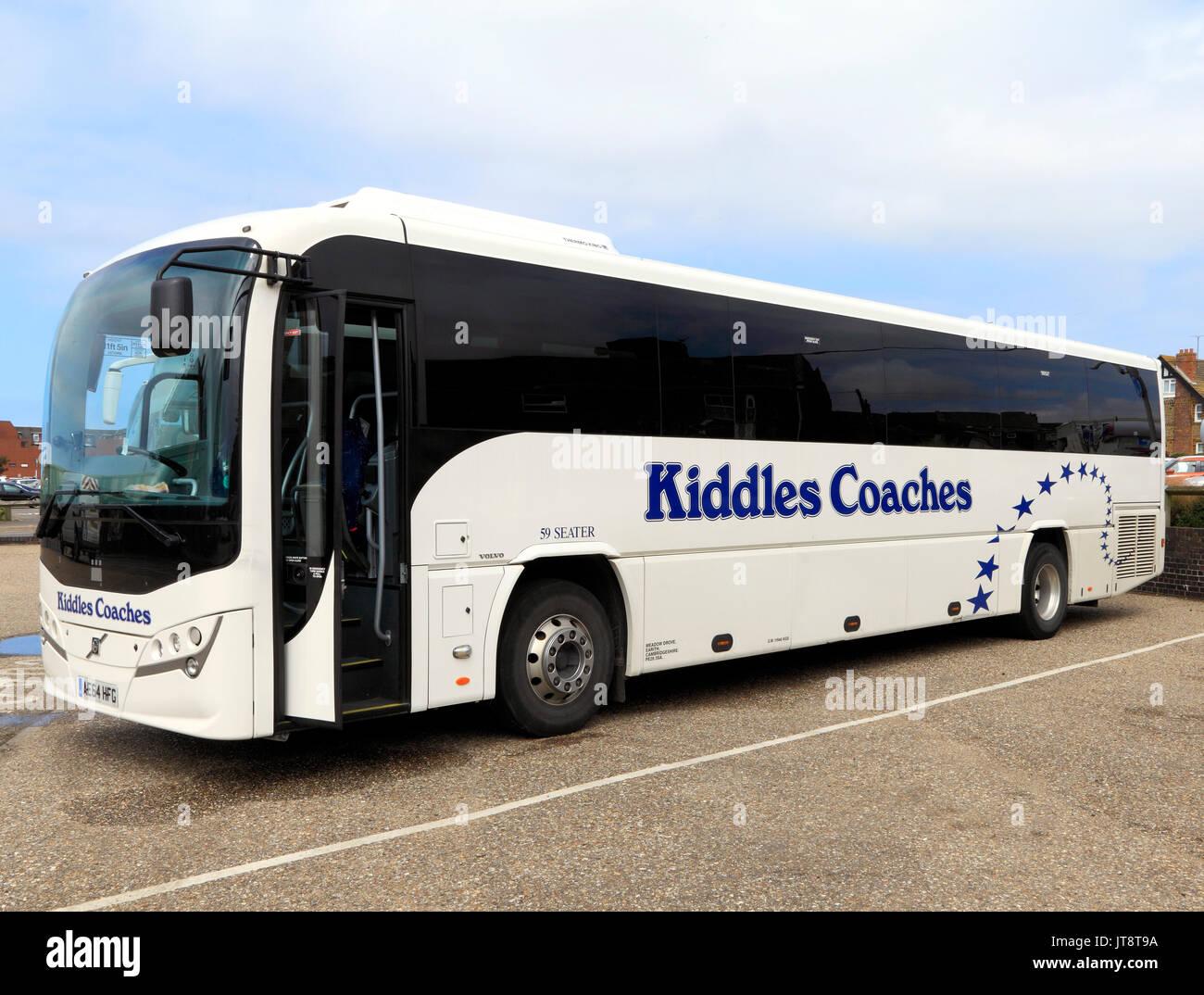 Kiddles entrenadores, entrenador, tours, excursiones, viajes, vacaciones, transporte, Inglaterra, Reino Unido, el operador, los operadores, la compañía, las empresas Imagen De Stock