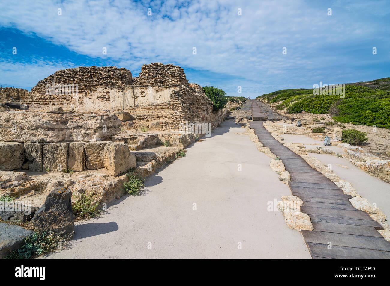Sitio arqueológico de Tharros, Cerdeña, Italia, Mediterráneo, Europa Imagen De Stock