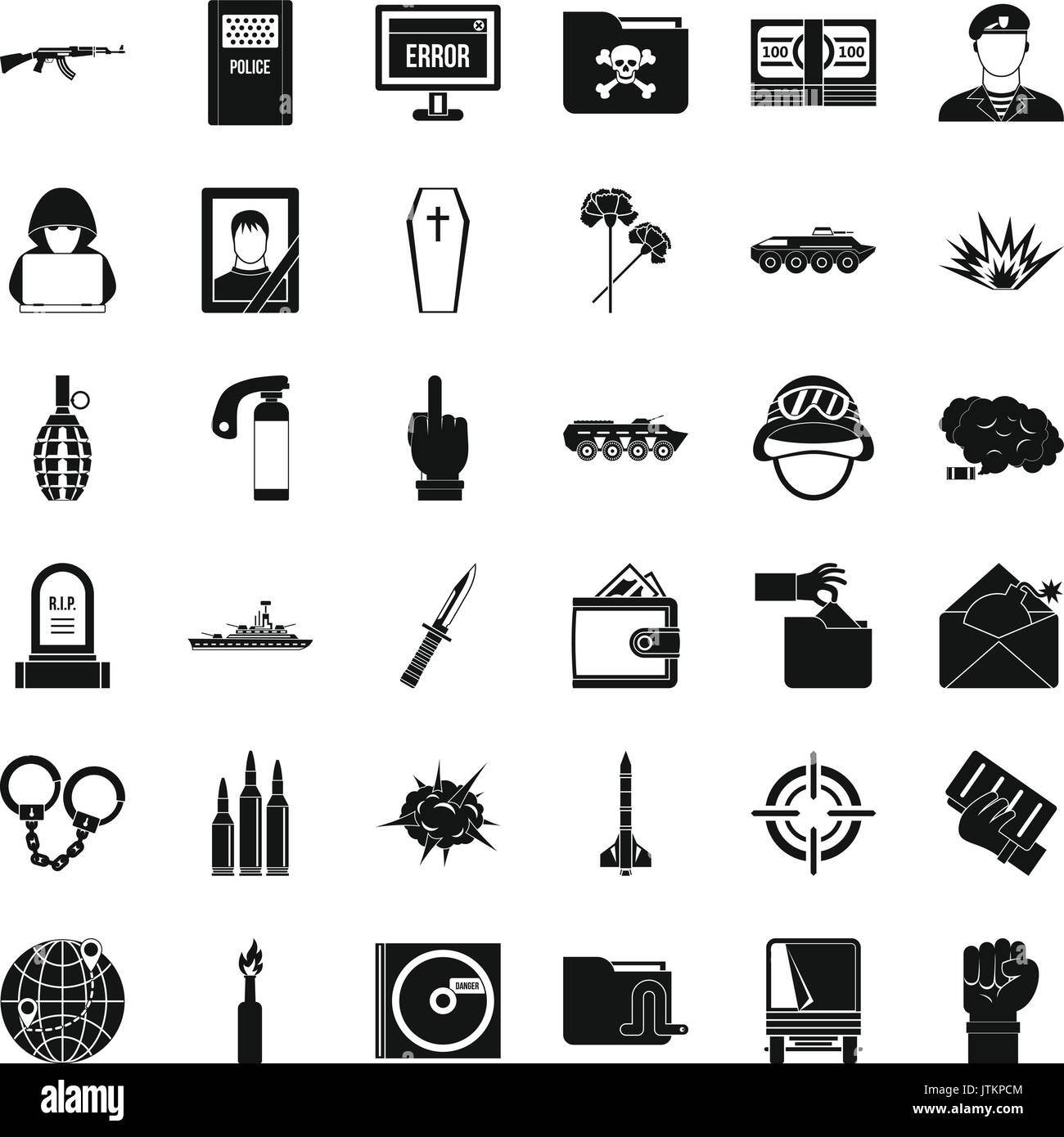 Iconos de la guerra fría, un estilo simple Imagen De Stock