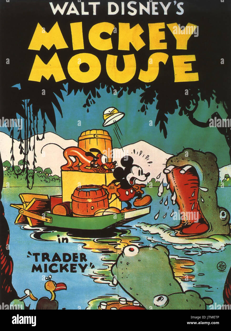Trader Mickey 1932 Dibujos Animados De Walt Disney Con Mickey Y