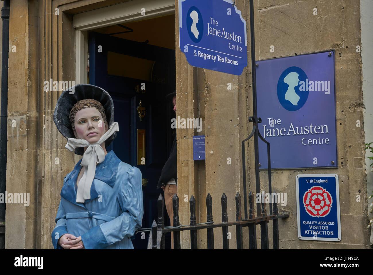 El centro de Jane Austen bath Imagen De Stock