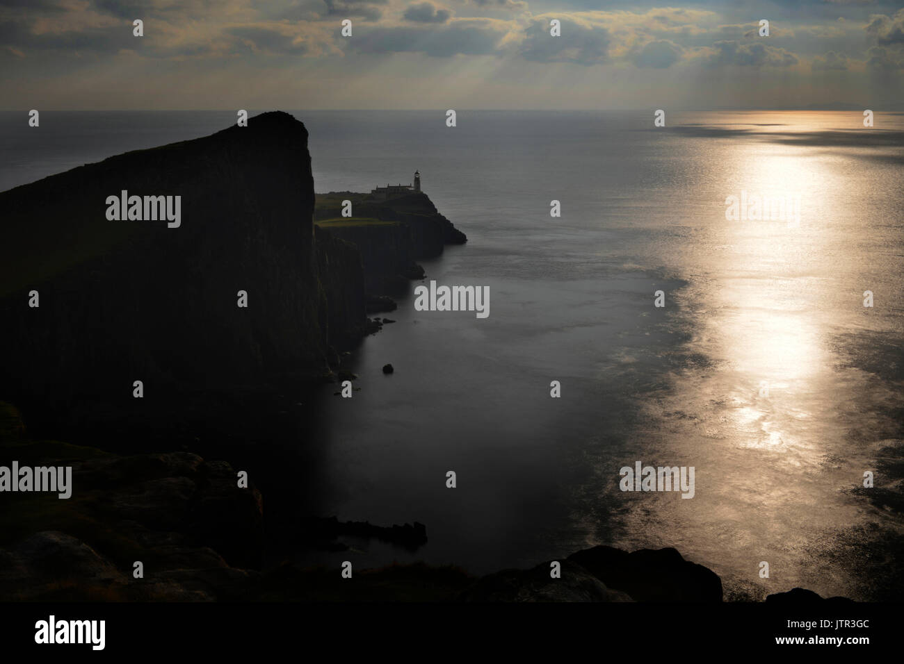 Neist Point Lighthouse Foto de stock