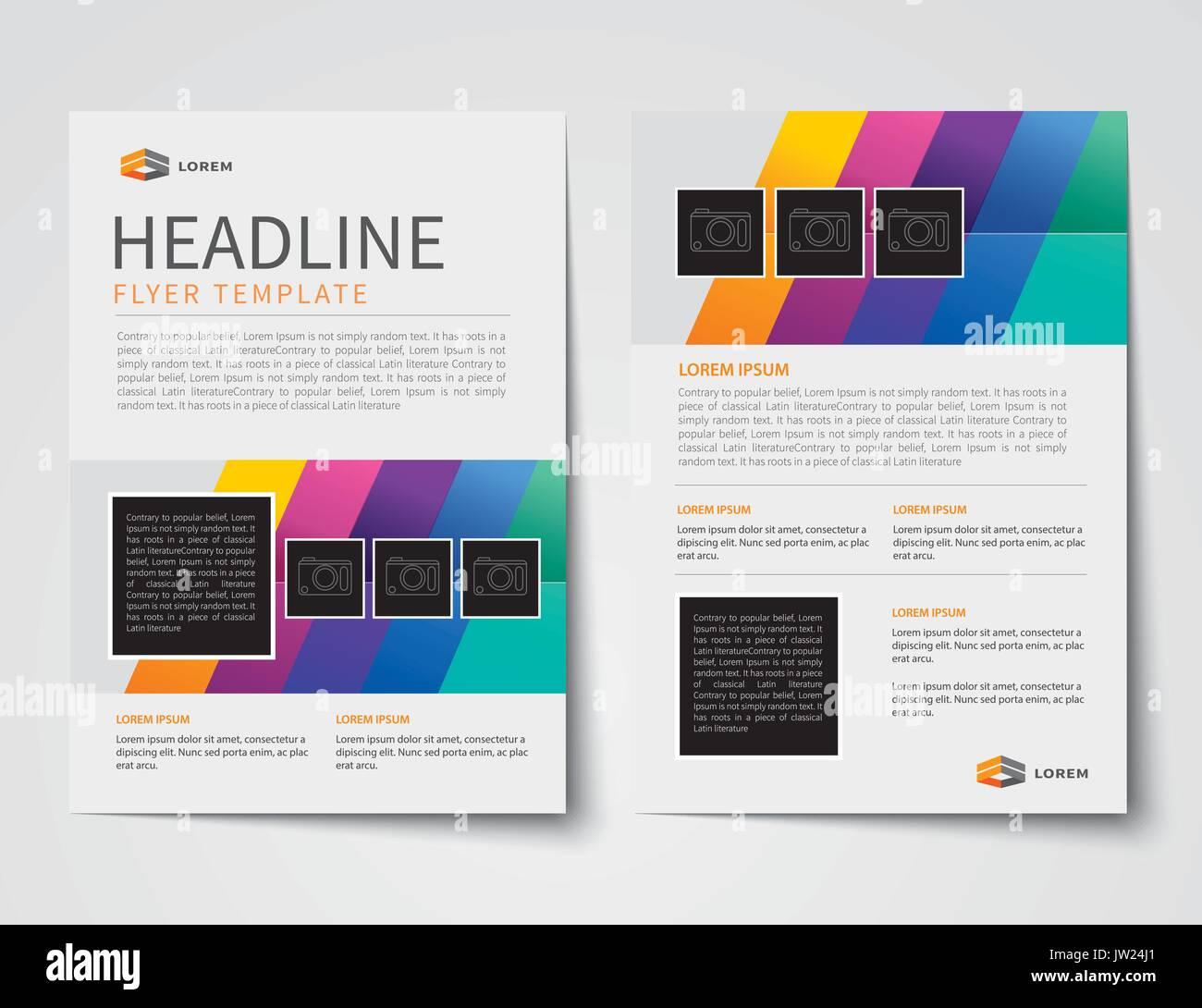 Conjunto de tapa de la revista de negocios, prospectos, folletos ...