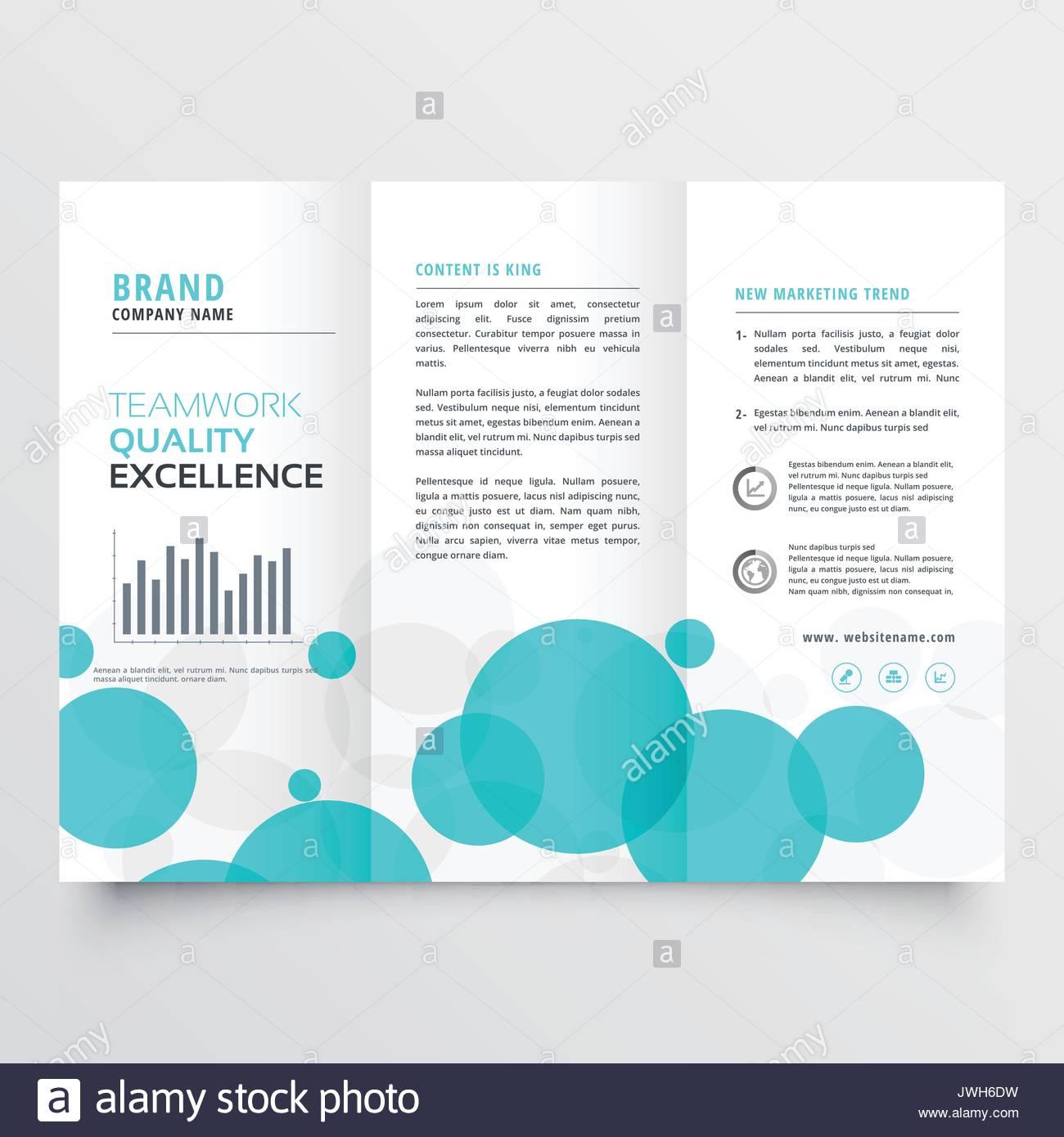 Elegante creativos círculos azul plantilla de diseño de folleto ...