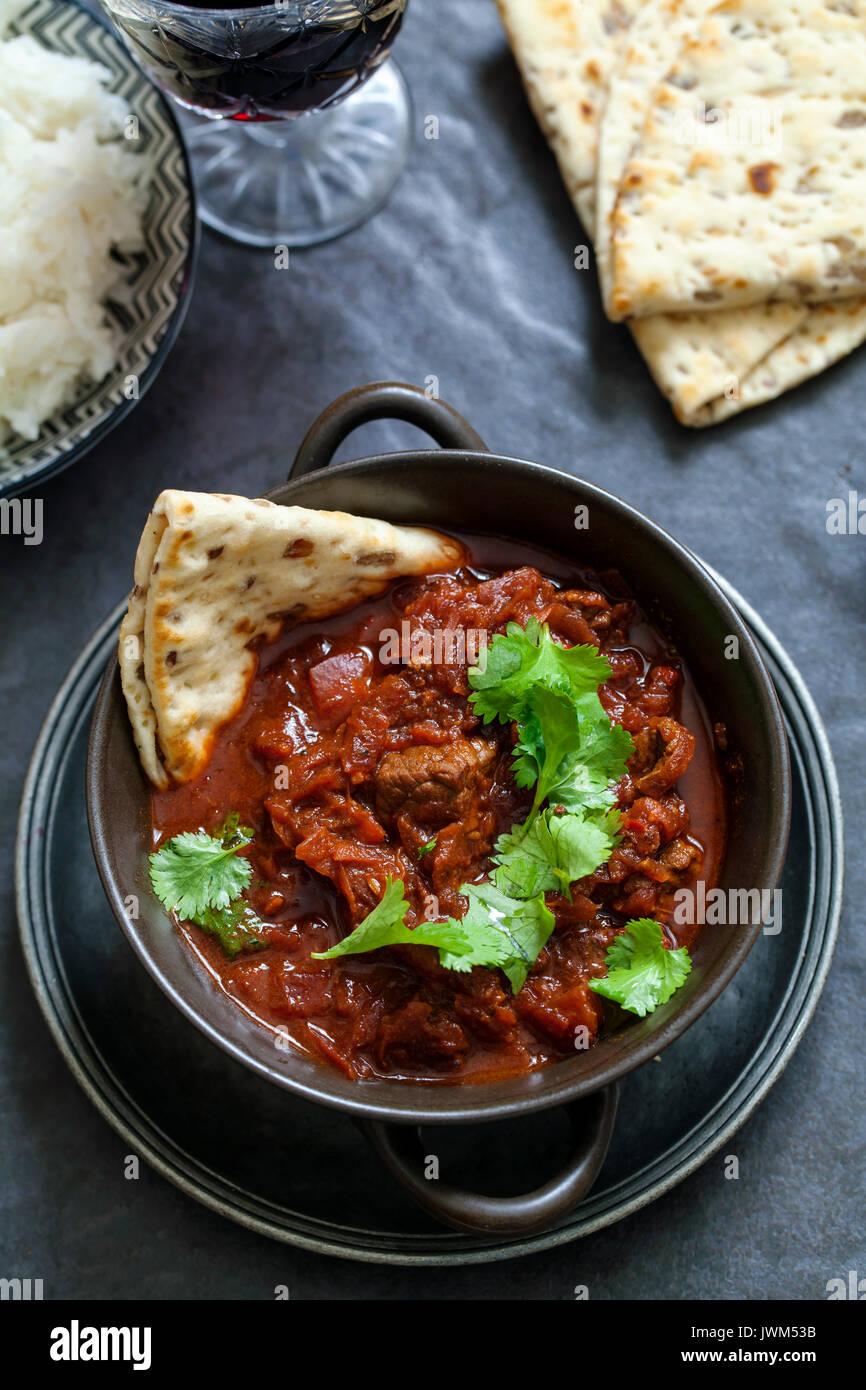 La carne de vacuno y de remolacha curry Imagen De Stock