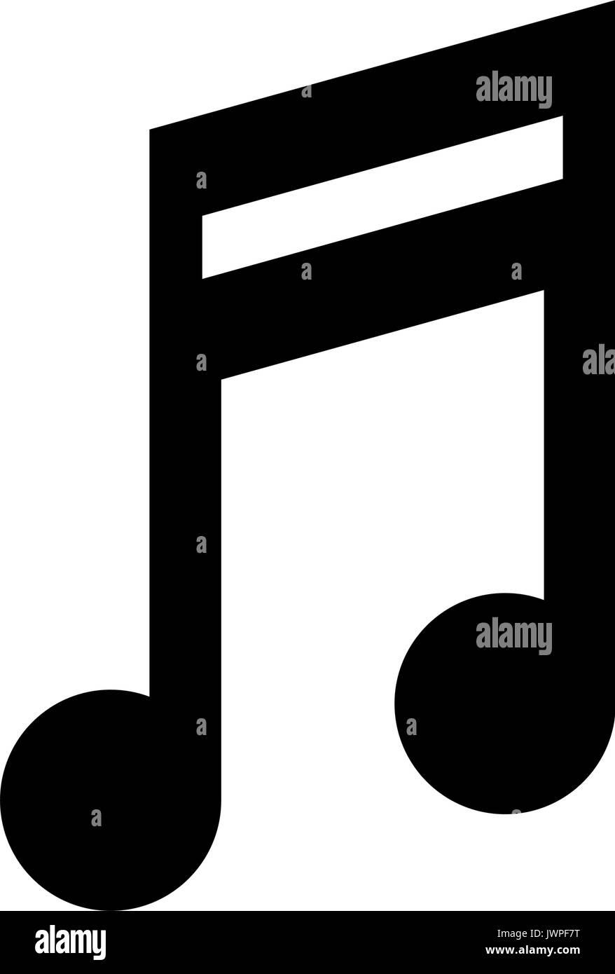 Foto Nota Musical ~ Imagen del icono de nota musical quaver Ilustración del Vector, Imagen 153544268 Alamy