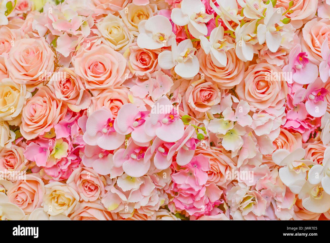 Falsos De Hermosas Flores Rosas Rosas Y Orquideas Para Bodas