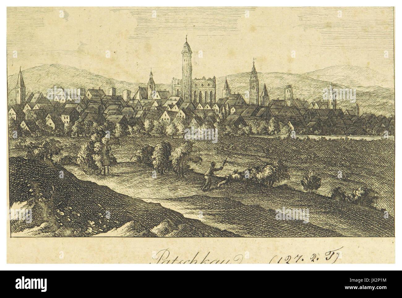 FISCHER, STUCKART(1819) Schlesien p044 Patschkau Foto de stock
