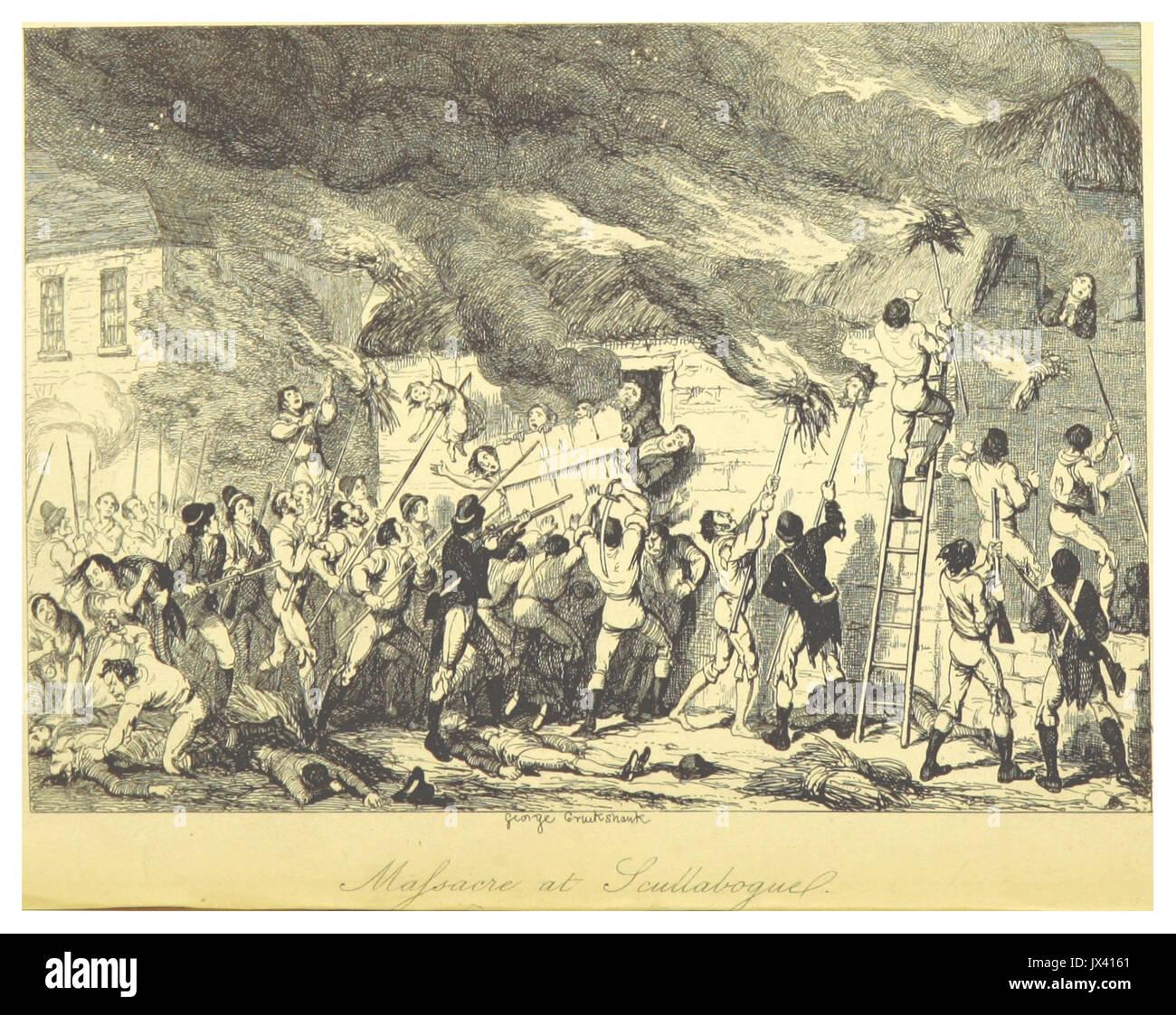 MAXWELL(1845) P162 Masacre en Scullabogue Foto de stock