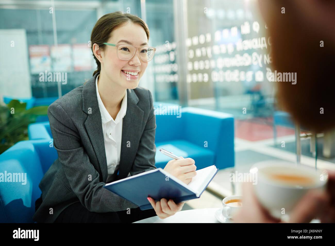 En la reunión de planificación Foto de stock