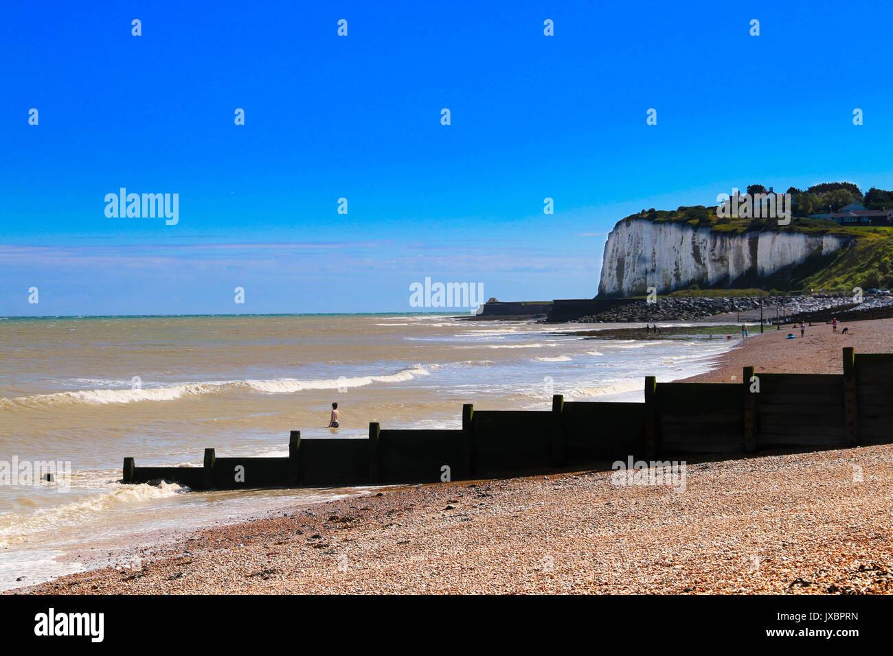 Playa Kingsdown, Kent Imagen De Stock