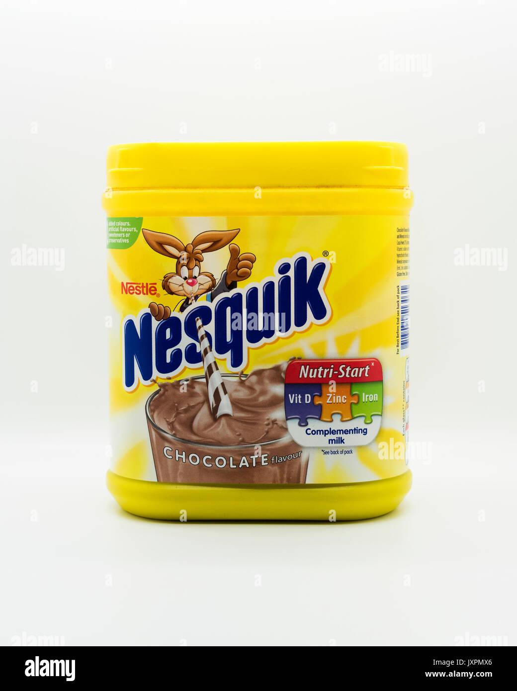 Nesquik beber mezcla, Imagen De Stock