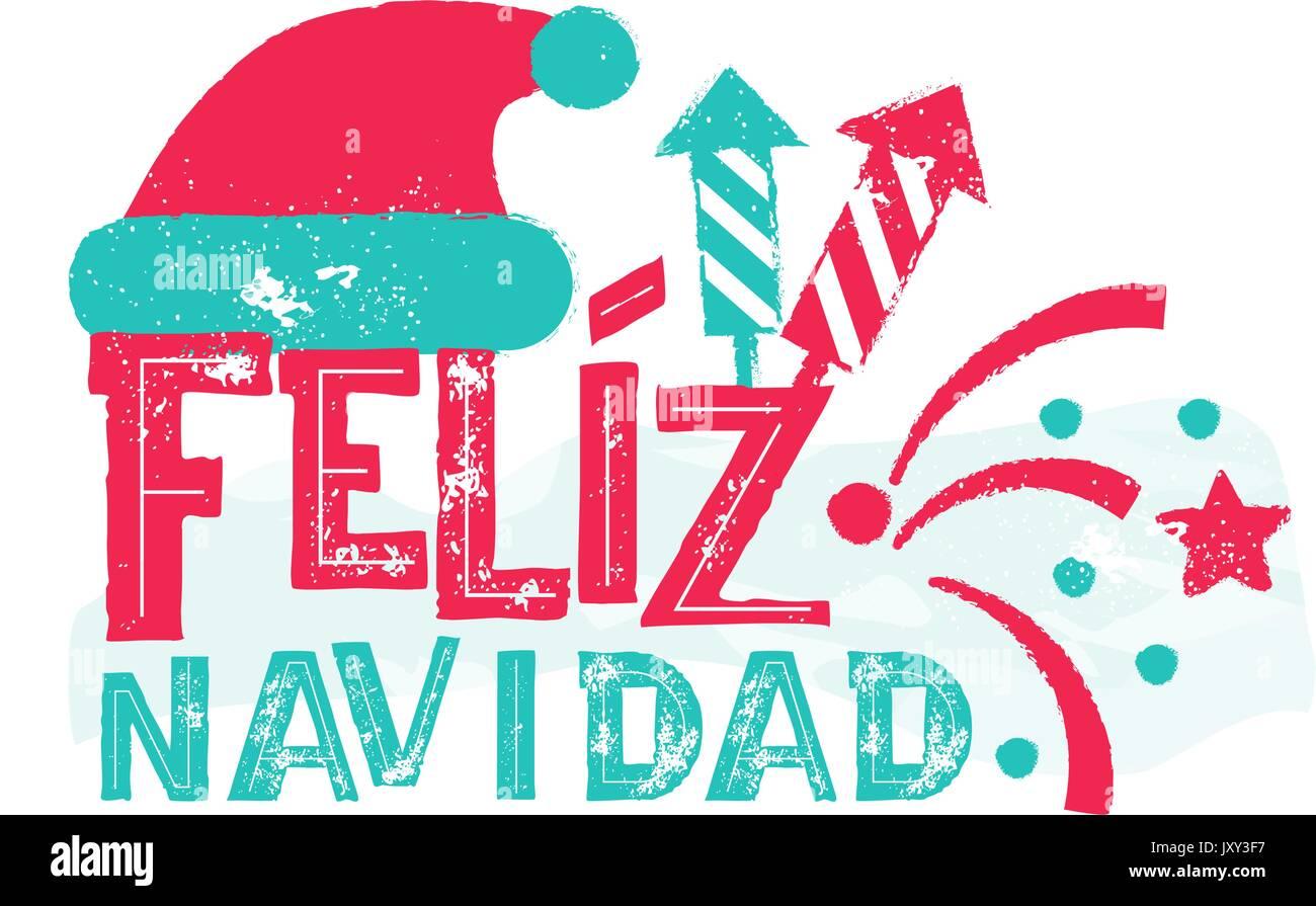 Feliz Navidad - Feliz Navidad Idioma Español Imagen De Stock