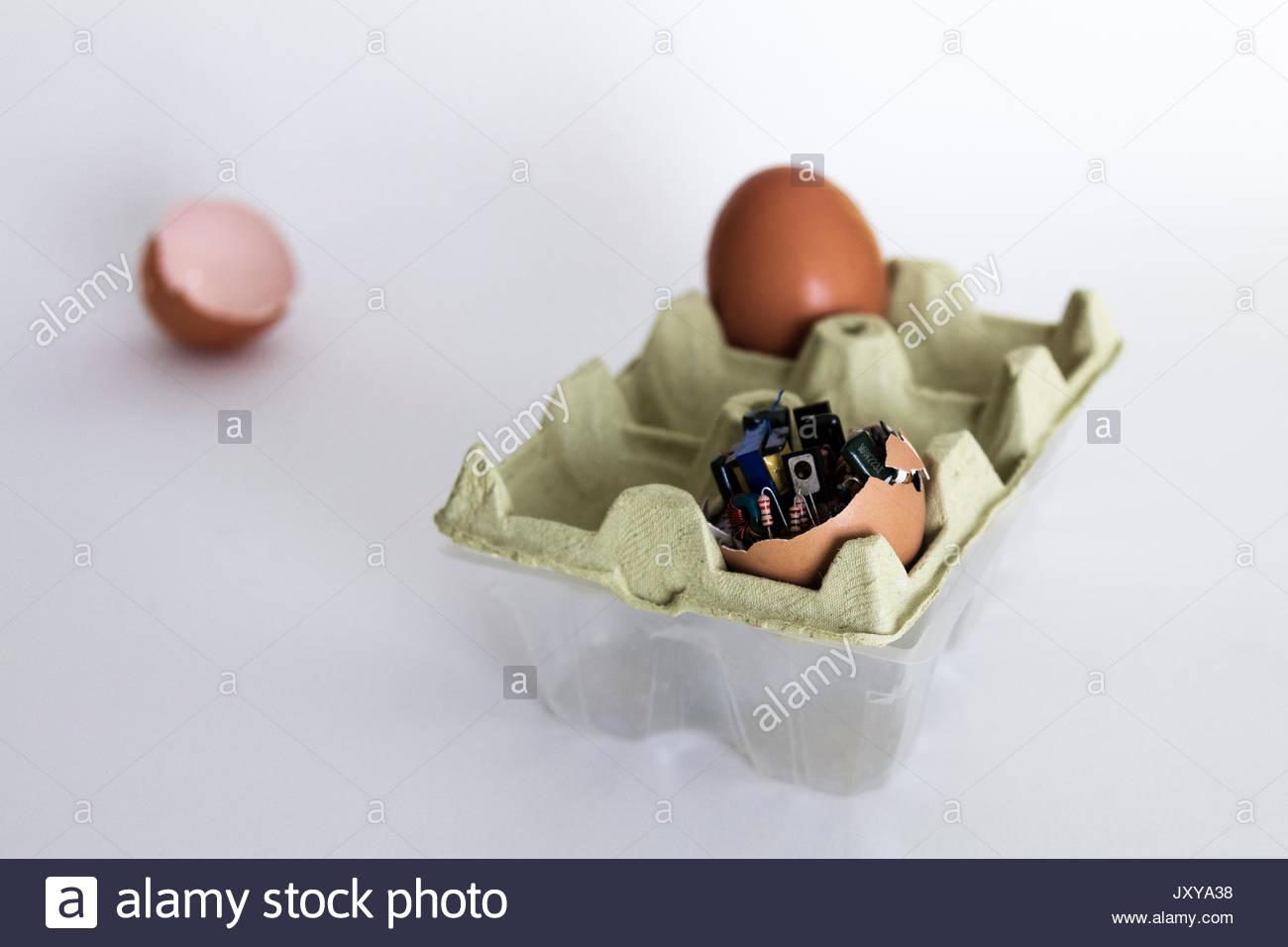Huevos electronicos Imagen De Stock