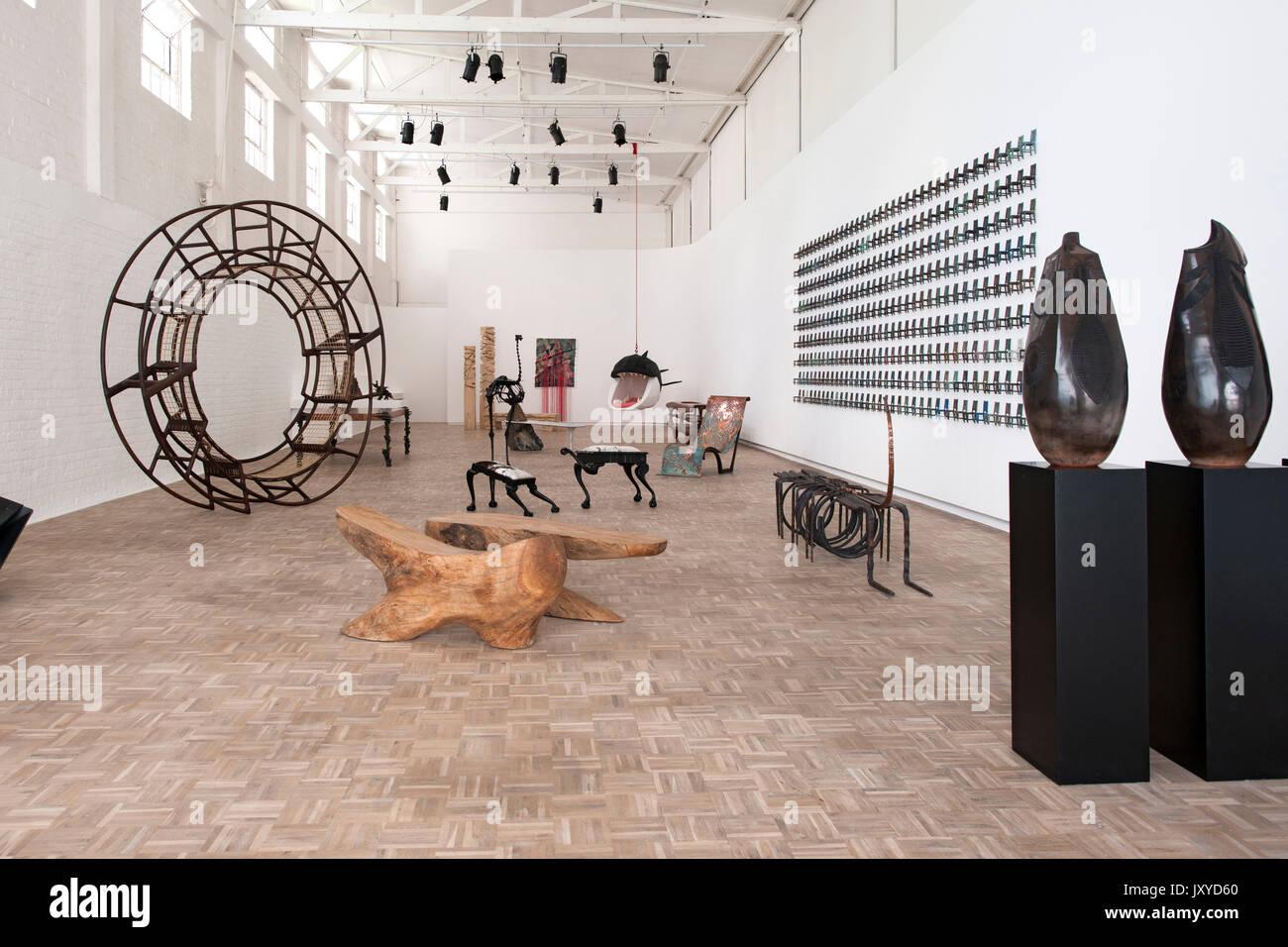 Interior del sur de Guild gallery en Woodstock en Cape Town. Imagen De Stock