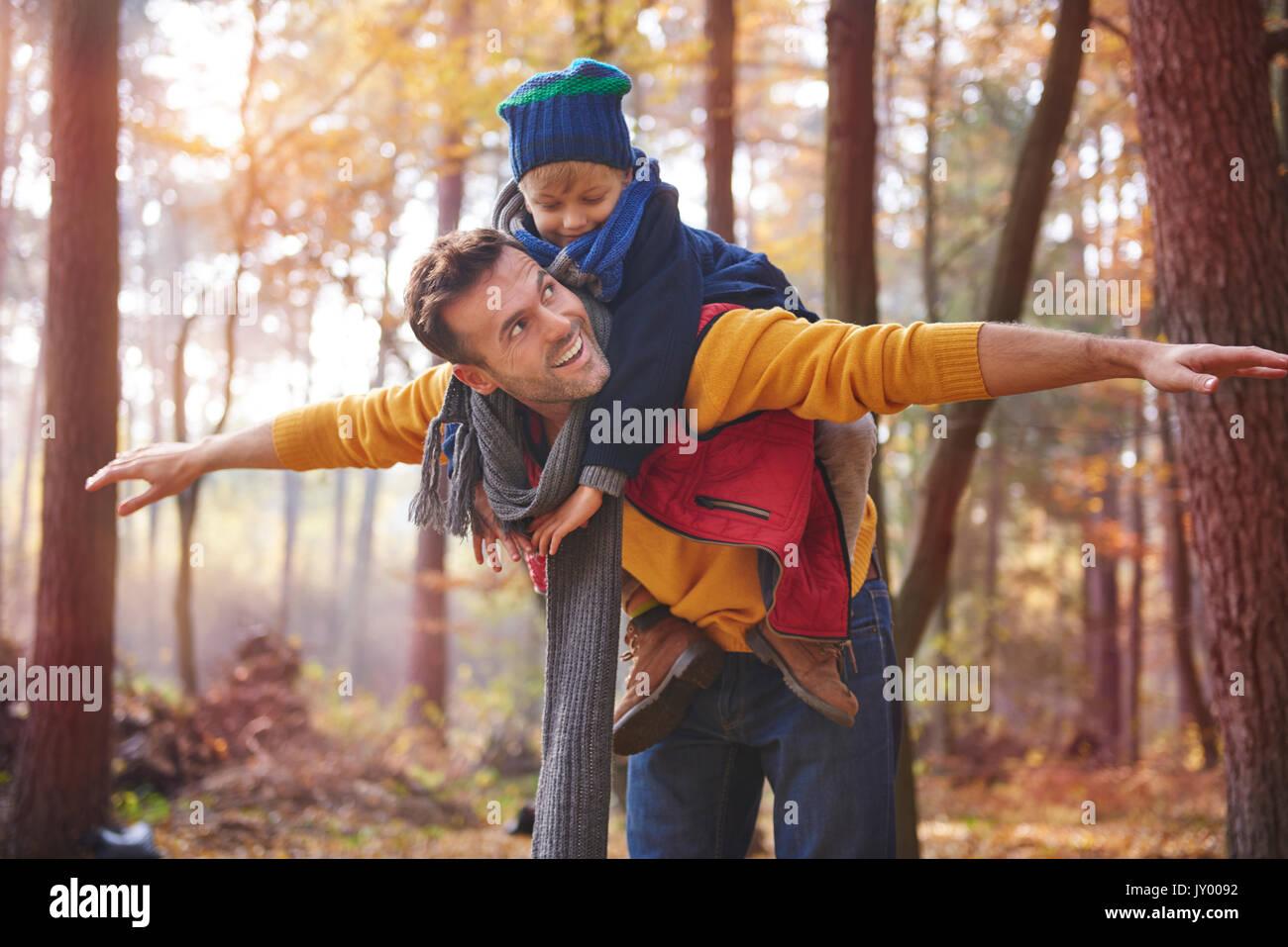 Él es mi orgullo y alegría Imagen De Stock