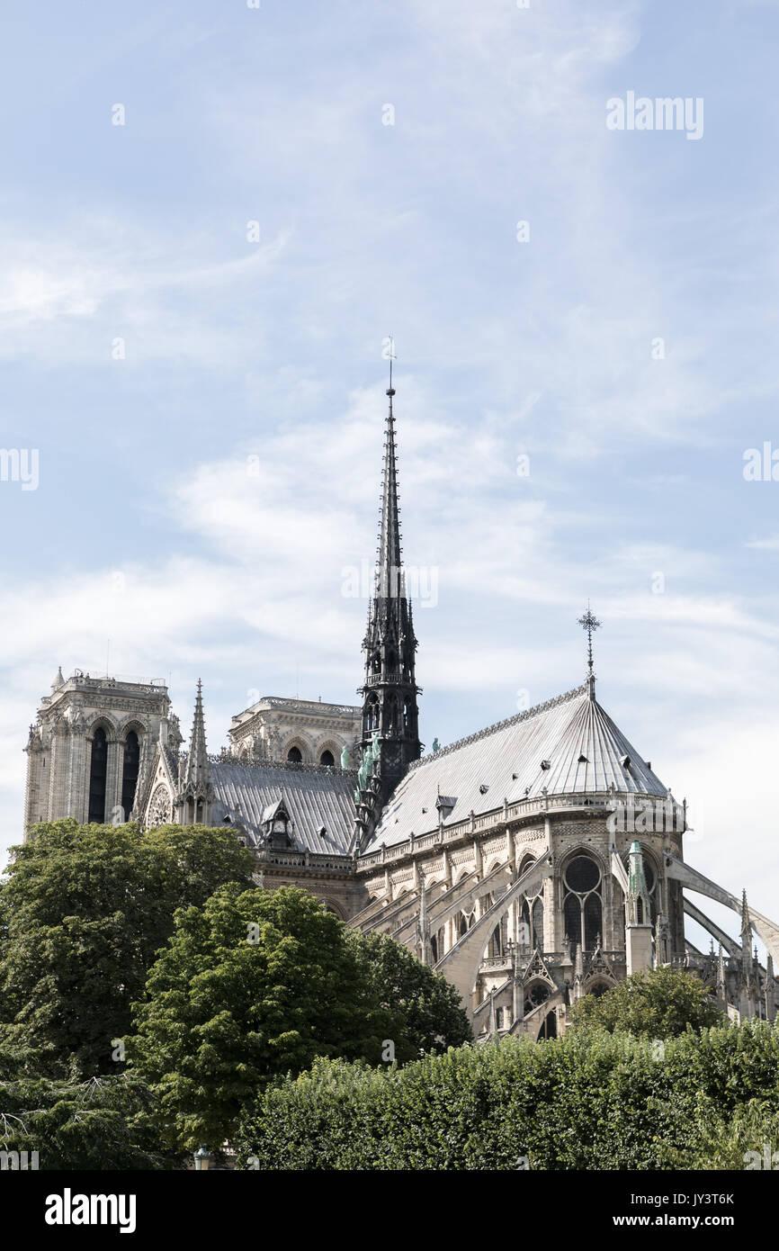 Cathédrale Notre dame Avant qu'elle brule en 2019 Foto de stock