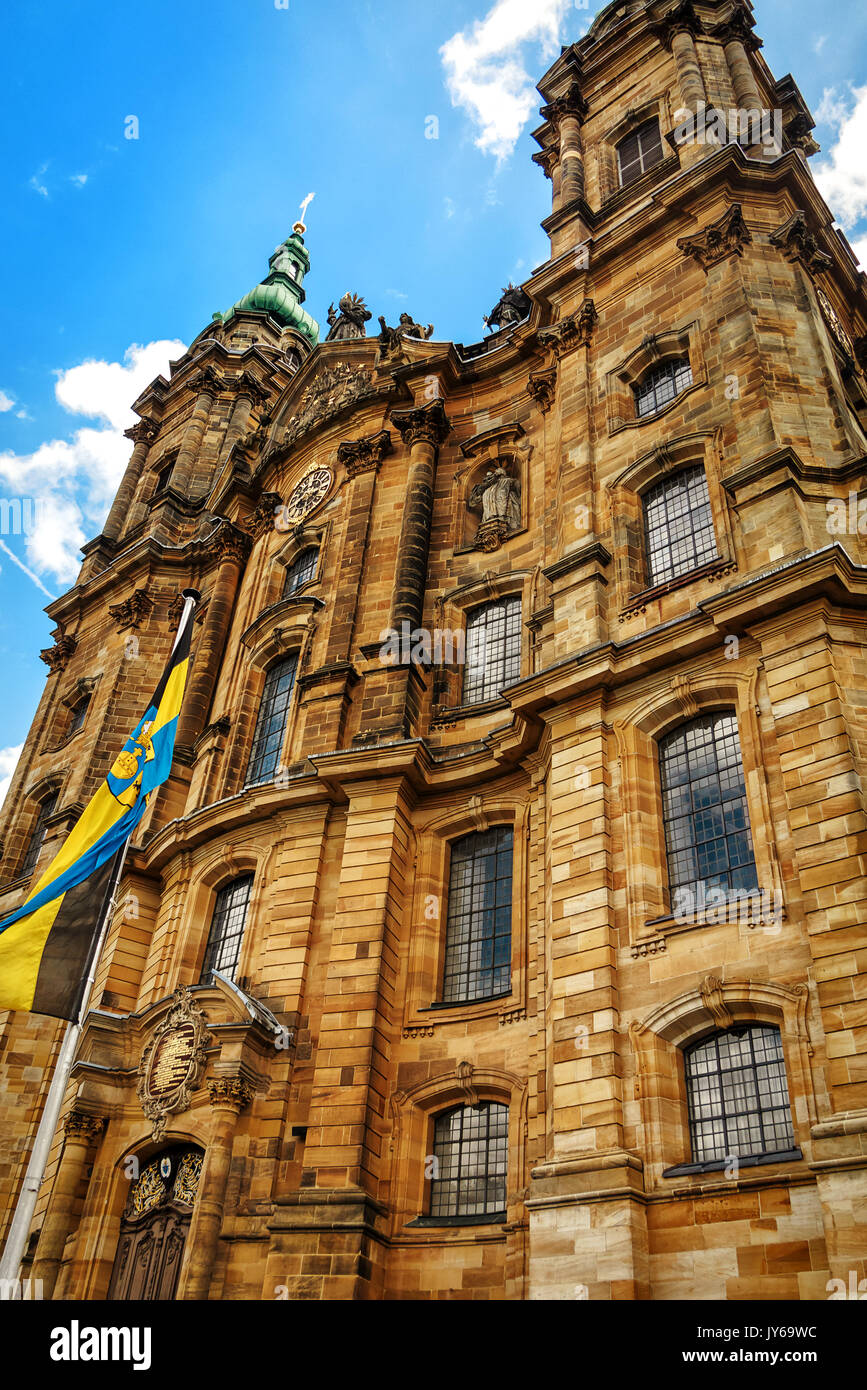 La basílica barroca de los catorce Ayudantes Santo es uno de los más conocidos del país Superior lugares de peregrinación, Franconia, Baviera, Alemania Imagen De Stock