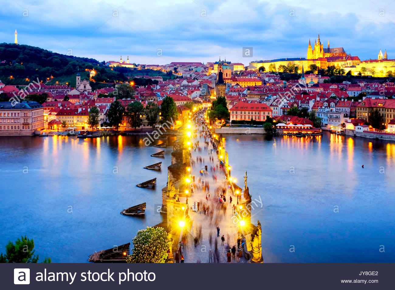 Puente de Carlos, Praga, República Checa Imagen De Stock