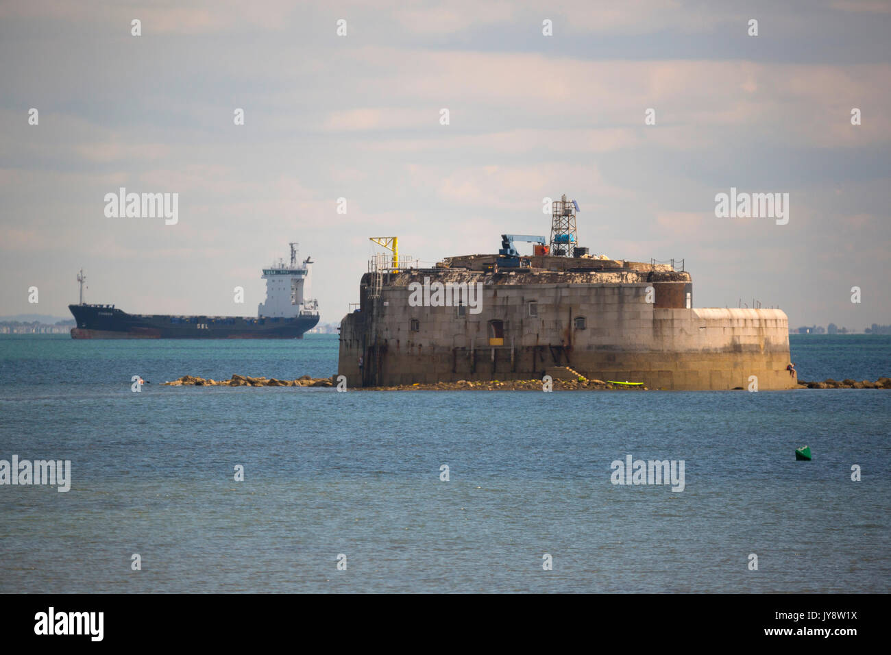 Puerto Bembridge, St Helens Fort, en la Isla de Wight, UK Imagen De Stock