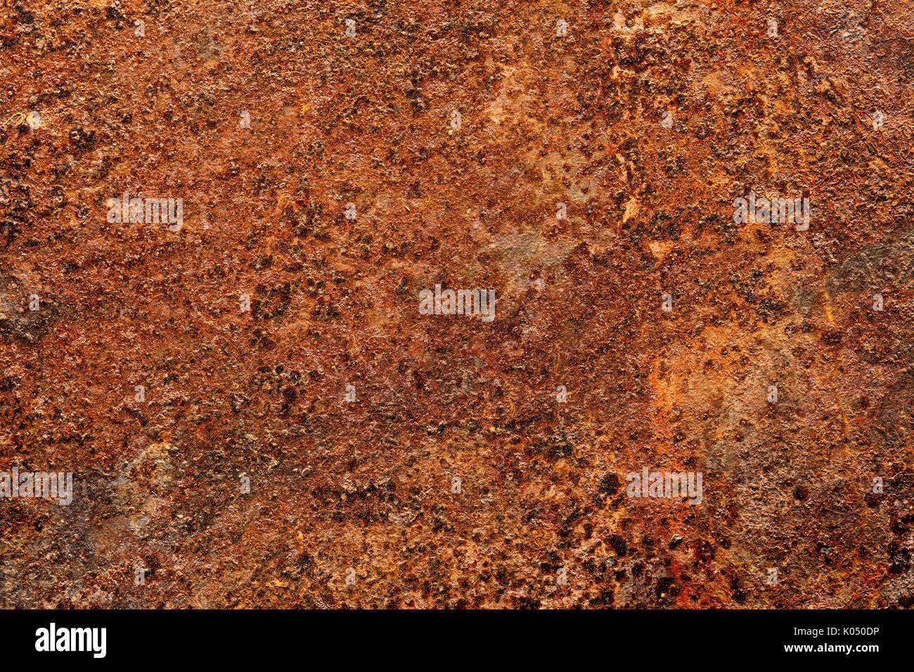 Grunge fuertemente oxidadas láminas de metal la textura del fondo Imagen De Stock