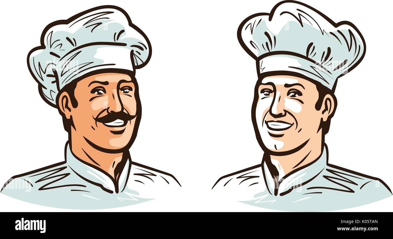 Retrato De Feliz Sonriente Chef, Cocinero O Panadero En El