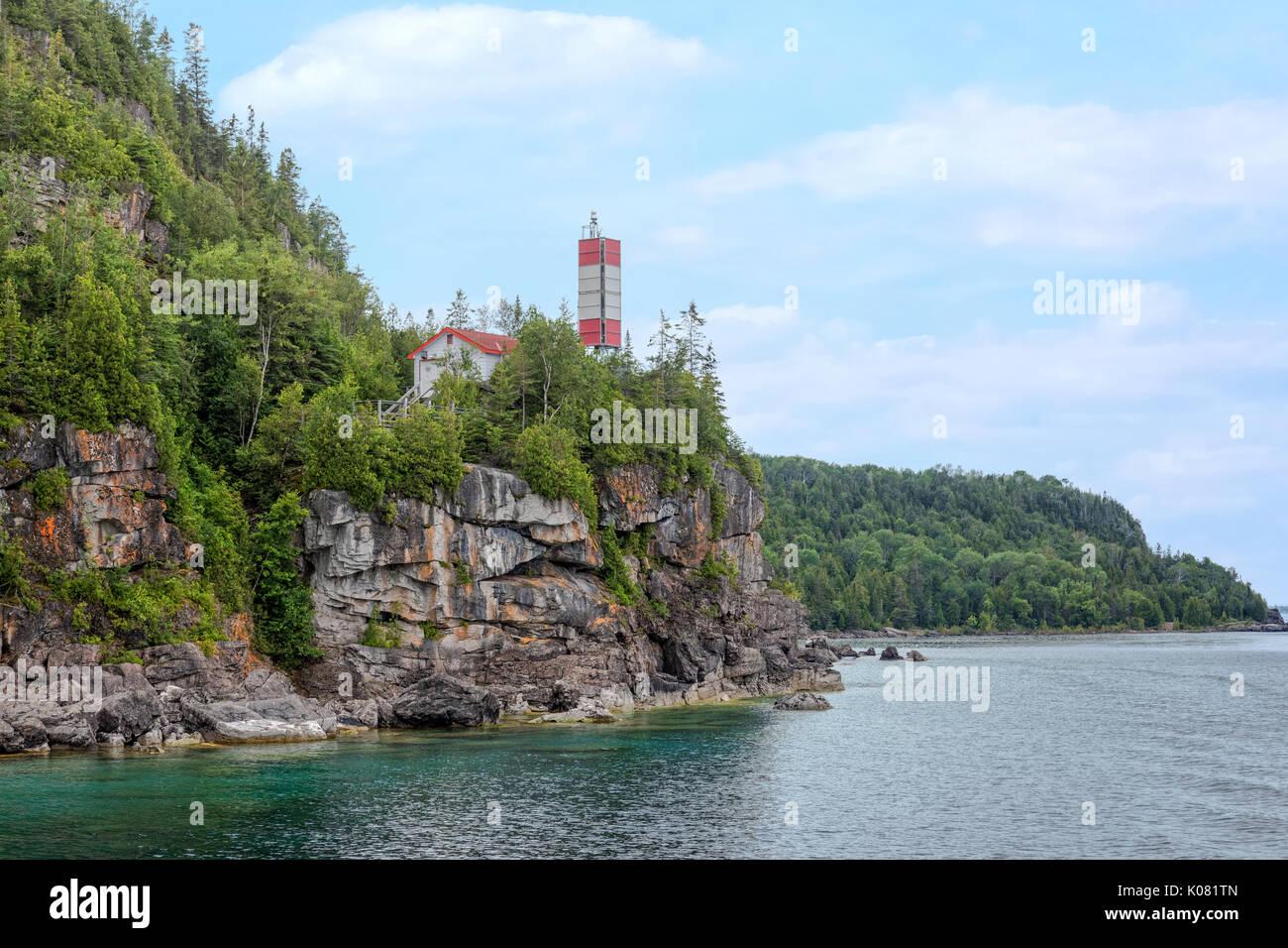 Maceta Isla, Bruce Península, Tobermory, Ontario, Canadá Foto de stock