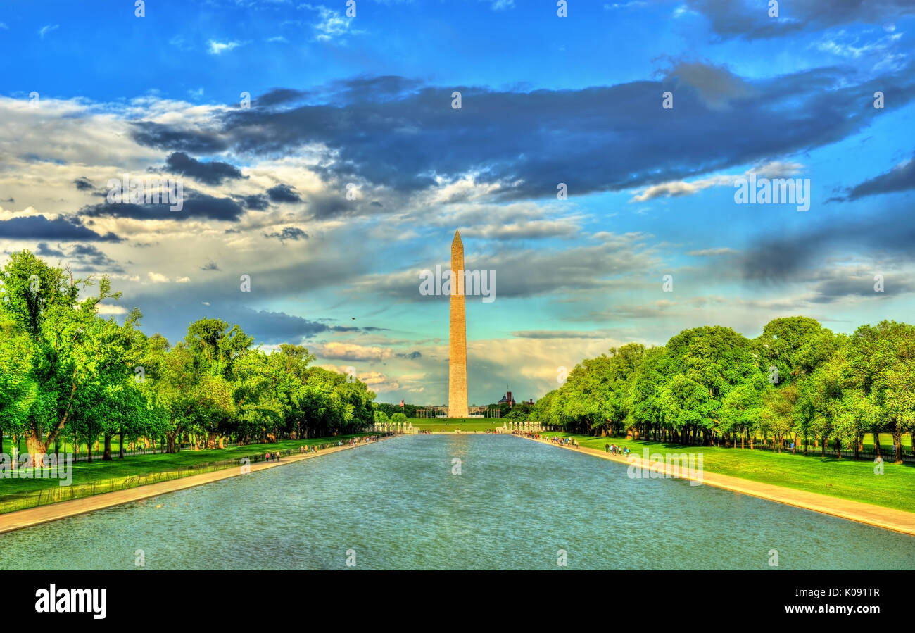 El Monumento a Washington, en el National Mall en Washington, DC. Imagen De Stock