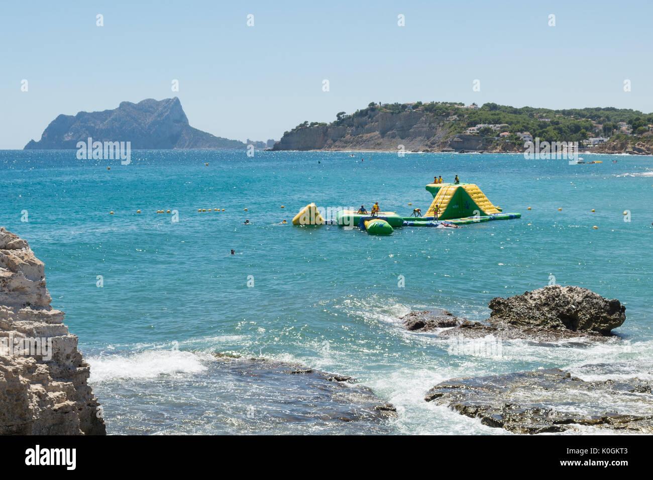 Modular wibit Sports Park en Moraira, Alicanti, España Imagen De Stock
