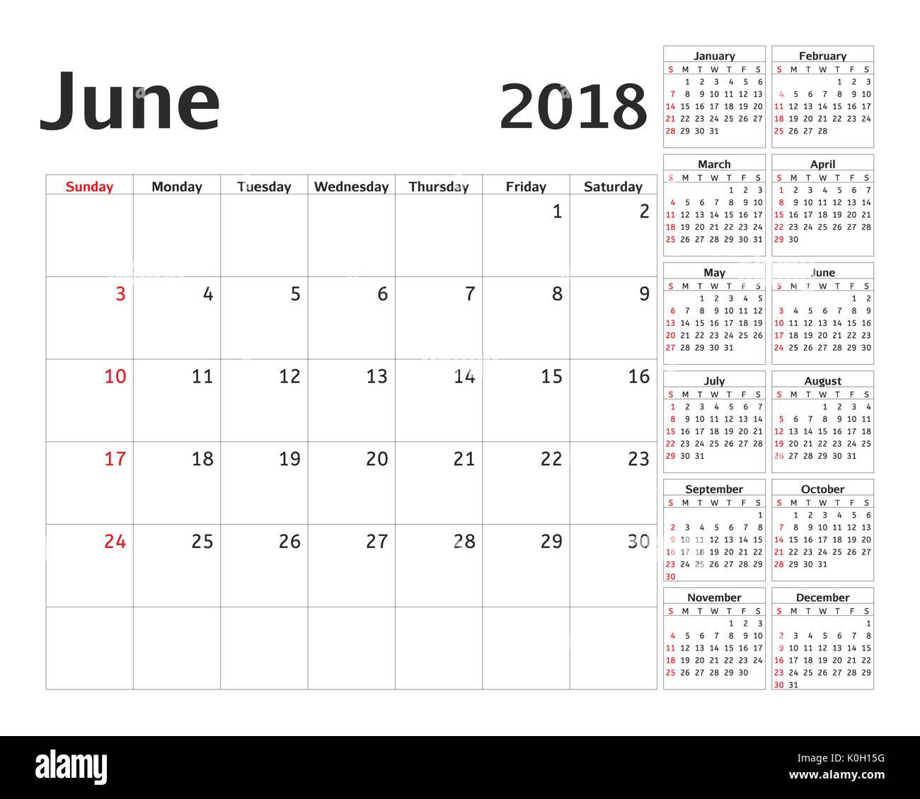 Planner 2018 Imágenes De Stock & Planner 2018 Fotos De Stock ...