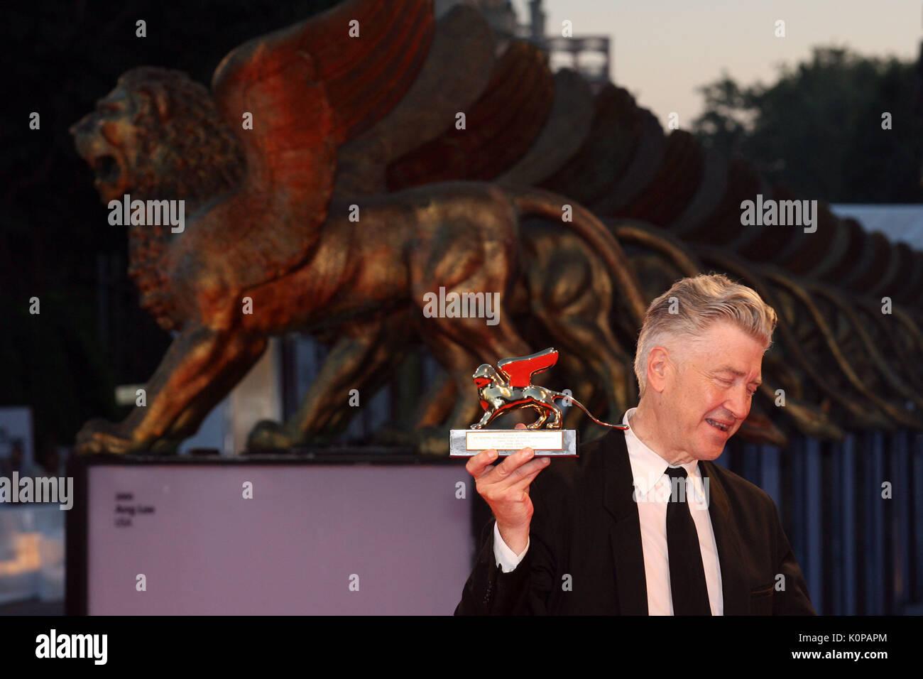 Venecia, 6 de septiembre de 2006. El director David Lynch es galardonada con el Golden Lyon para Lifetime Achievement durante la 63ª edición del Festival de Venecia. Imagen De Stock