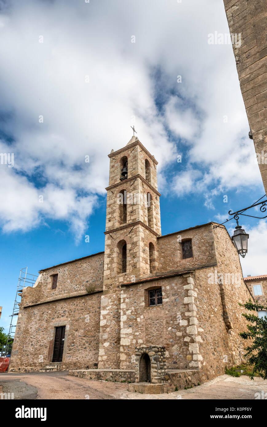 St-Marcel iglesia cerca de Fort de Matra en Aleria, Córcega, Francia Imagen De Stock