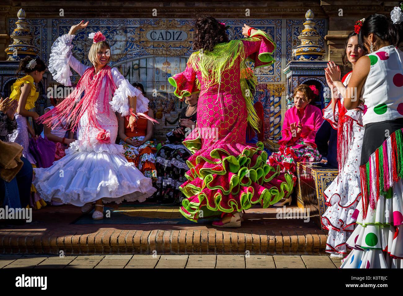 Feria de Abril Imagen De Stock