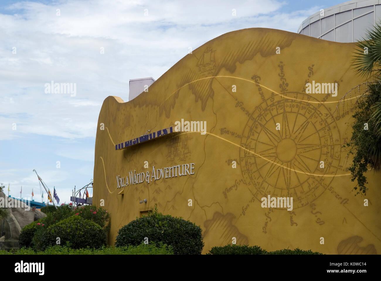 Edificio Magiquest, Broadway en la Playa Myrtle Beach, Carolina del Sur, EE.UU. Imagen De Stock