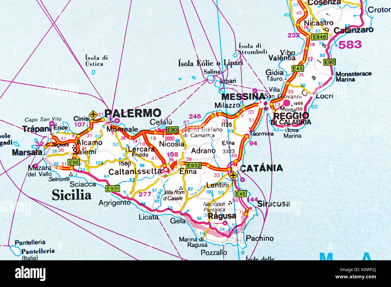 palermo mapa Palermo mapa ciudad Mapa Mapa de carreteras Foto & Imagen De Stock  palermo mapa