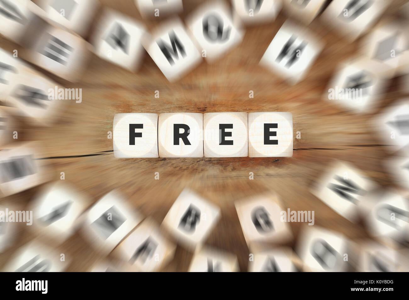 Oferta gratuita Descarga Voucher nuevo envío entrega regalo dados concepto empresarial Imagen De Stock
