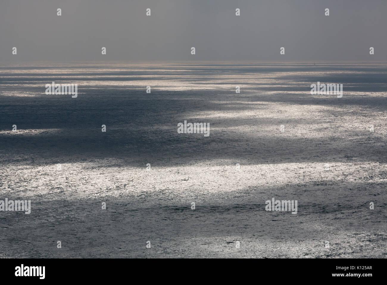 Patrones de luces en el mar; uk Imagen De Stock