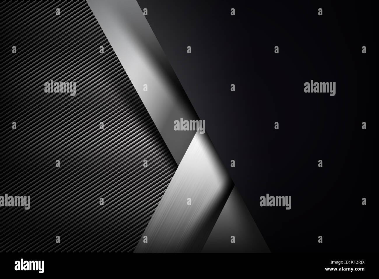 Resumen antecedentes oscuros y fibra de carbono negro ilustración vectorial EPS10 Imagen De Stock