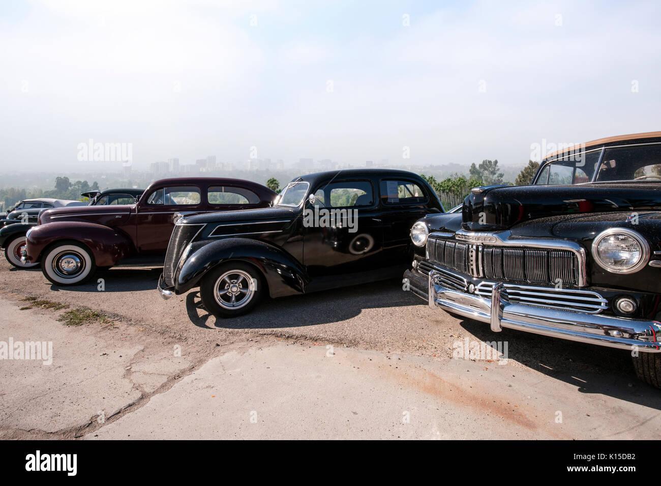 Vintage automóviles estacionados en California Beullton Imagen De Stock