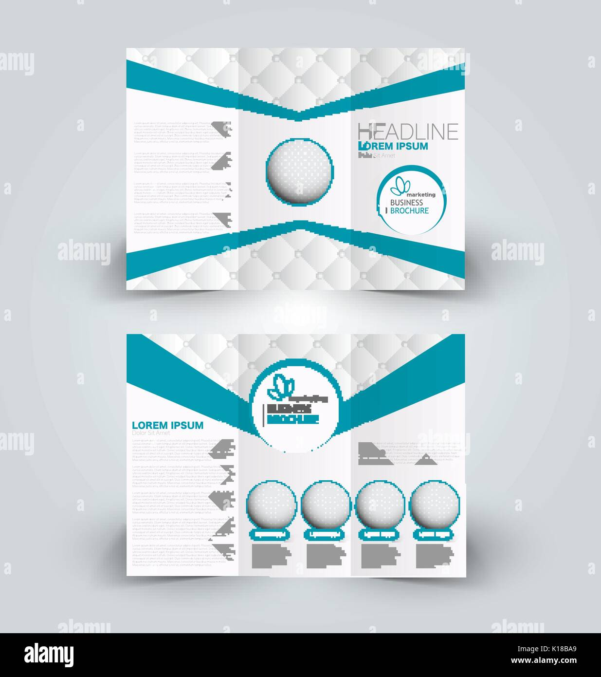 cd2b042bcc Folleto de la plantilla de diseño de maquetas para los negocios